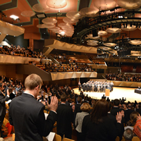 The audience applauds during an Oct. 29, 2012, ceremony at Boettcher Concert Hall in Denver for the Supreme Court Assembly of Lawyers.