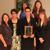Pueblo CLS office: Heather Seter, Barbara Santillenes, Geraldine Garcia, Gail Rodosevich, and Sarah Lipka