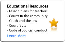 Educational Resources: Lesson plans for teachers, court facts, etc.