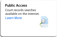 Public Access: Court records search available on the internet